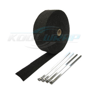 Black Kool Wrap Exhaust Wrap and ties