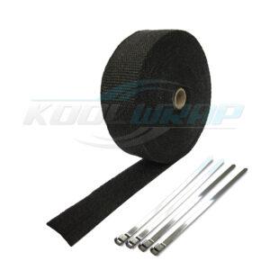 Black Kool Wrap Exhaust Wrap and ties
