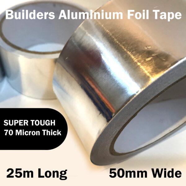 Aluminium Foil Tape 25m x 50mm x 70um