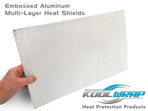 Kool Wrap embossed aluminium heat shield
