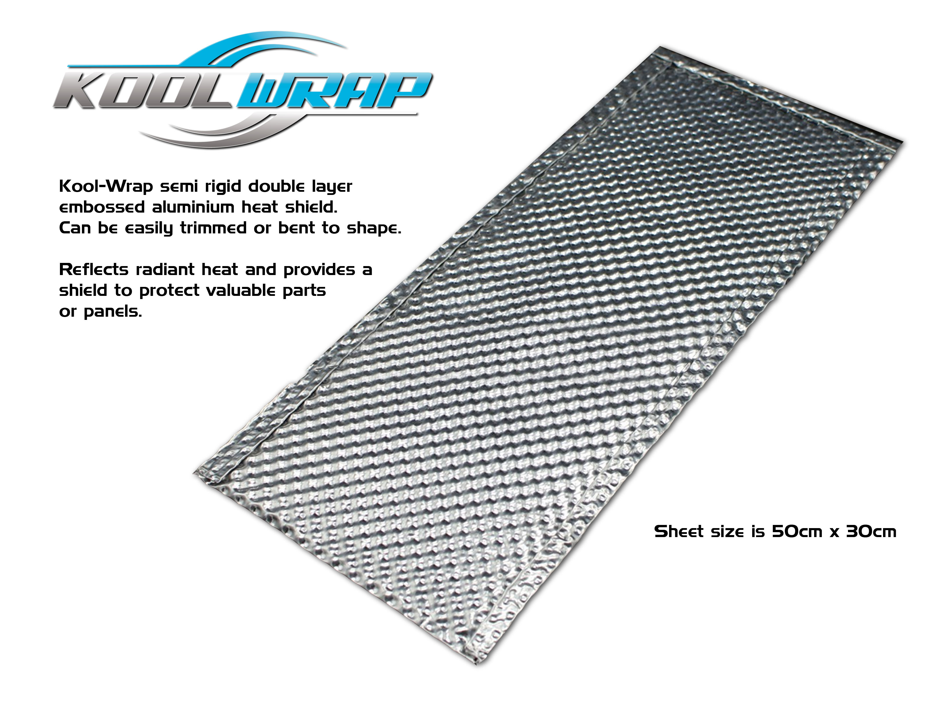 Kool Wrap Aluminium Exhaust Shield Panel Embossed