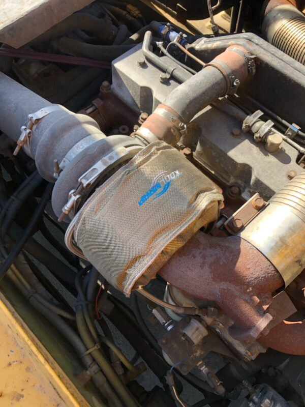 Kool Wrap Turbo Blanket fitted to Clarke 45 Forklift