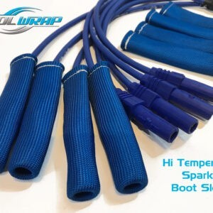 Kool Wrap spark plug boots sleeves blue 2
