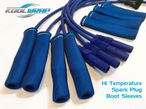 Kool Wrap spark plug boots sleeves blue 2