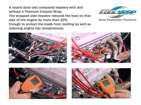 Kool Wrap Titanium Exhaust wrap test