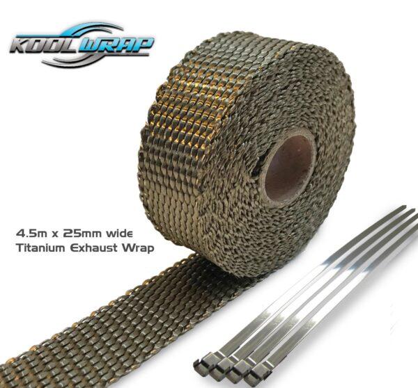 Kool Wrap TitaniumExhaust Wrap 4.5m x 25mm