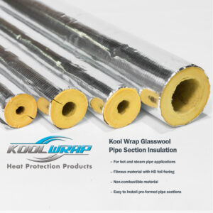 Kool Wrap Glasswool Pipe Section