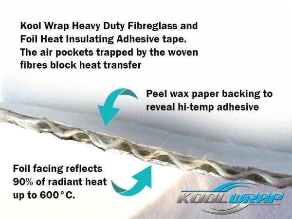 Kool Wrap heat insulating adhesive tale thick